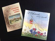 Rare ancien guide brochure L'Autriche vous invite 1960
