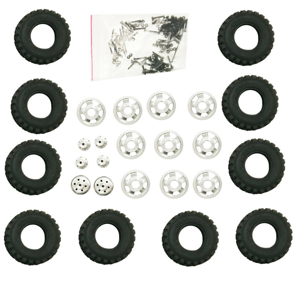 10X RC Car 4WD 6WD Special Metal Wheel Tire Hub For WPL B16 B24 B36 For JJRC MR