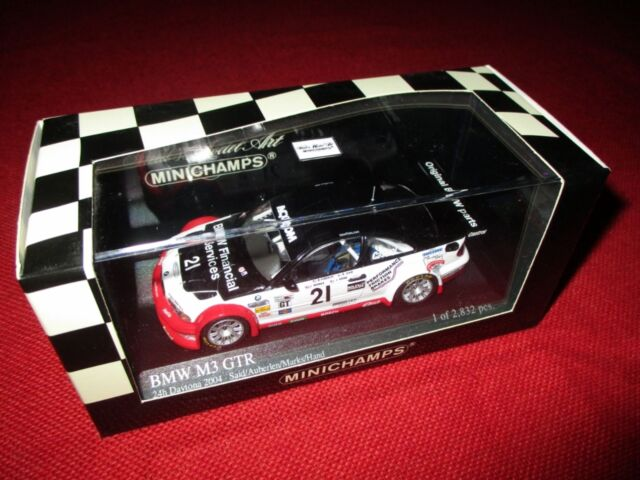 MINICHAMPS® 400 042121 1:43 BMW M3 GTR ALMS Daytona 24h 2004 NEU OVP