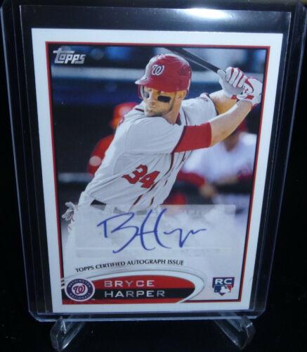 Bryce Harper 2013 Topps Rookie Auto Reprint Card #661 Philadelphia Phillies READ