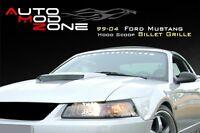 99-04 Ford Mustang Hood Scoop Billet Grill Grille Insert Aluminum