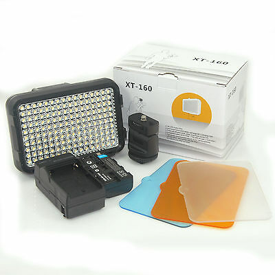 Pro XT-160 LED Video Light+Battery  f Camcorder Lighting lamp Canon Nikon CN-160