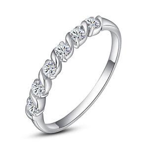 ViVi Ladies Engagement sterling silver Diamond Ring 8601a