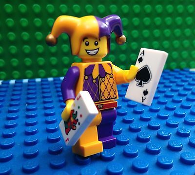 Lego Court Jester Minifigures Cards Hat Clown City Town 71007 Series 12
