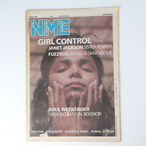 NME magazine 24 May 1986 JANET JACKSON cover Five Star Primal Scream Colourbox