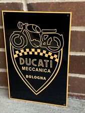 Retro Style Ducati Motorcycle Garage Sign Reproduction