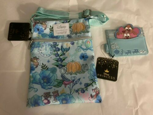 Loungefly Disney Cinderella Passport Bag /& Gus Gus Card Holder New with Tags