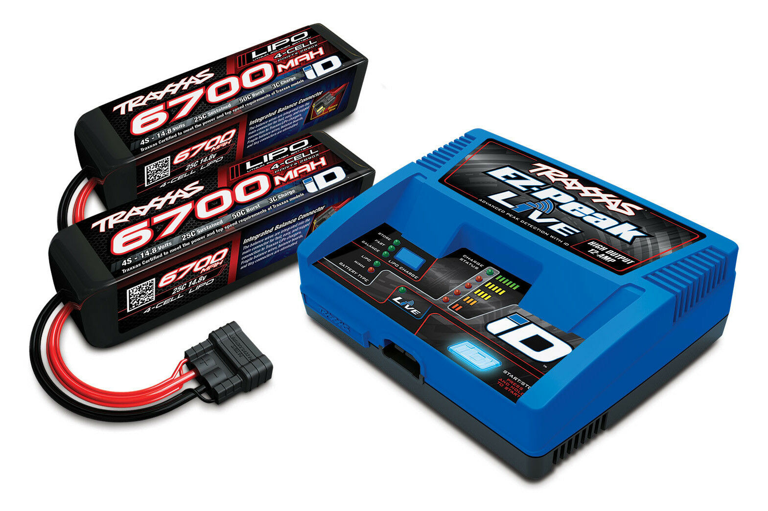 (Combo) Traxxas 2993 4s Battery 100w Charger Combo 2x 2890x + 1x 2971