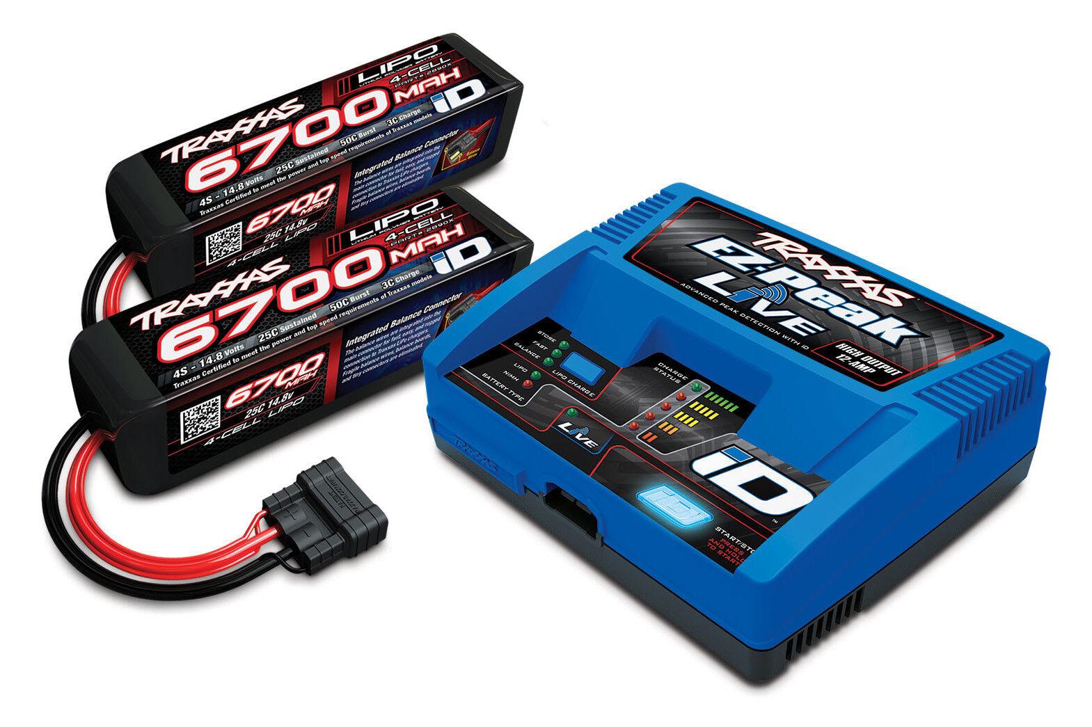 (Combo) Traxxas 2993 4s Batería 100w Cargador Combo 2x 2890x + 1x 2971