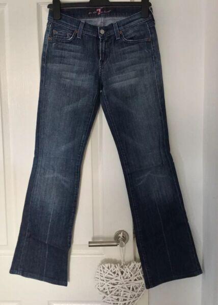 100% Vero 7 Donna Per All Mankind Jeans Bootcut Vita 26 Forma Elegante