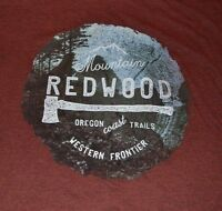 Mountain Redwood Oregon Coast Trails Western Frontier Men's T-shirt Sonoma Tee