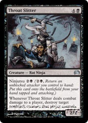 Ninja 1x THROAT SLITTER Magic the Gathering Planechase NM MTG