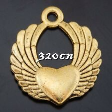 Vintage Bronze Alloy King Crown Shape Pendants Charms Craft Finding 30pcs 07823