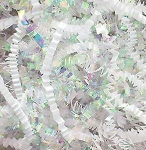 10-LB-Natural-White-amp-Iridescent-Crinkle-Cut-Filler-for-Gift-Baskets-and-Boxes