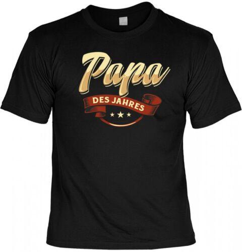 T-Shirt Geschenk Papa des Jahres witziges Spruchshirt Geburtstag Vatertag