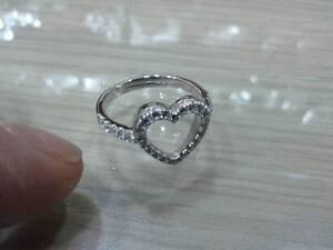 d6f14de3d21d59 Caricamento dell'immagine in corso anello-cuore-con-zirconi-argento-925- regolabile-san-