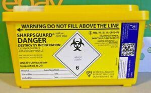 SharpsGuard-Sharps Bin 1Ltr-Sharps Container-Medical Lab-Healthcare-Razor-Crafts