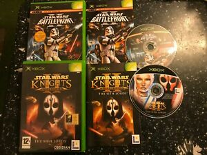 2-ORIGINAL-XBOX-STAR-WARS-KNIGHTS-OF-THE-OLD-REPUBLIC-II-SITH-LORD-BATTLEFRONT-2
