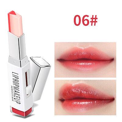 Two-tone Tint Lip Bar Long Waterproof Lasting Color change Lipstick Lip Balm 2g