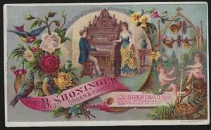 B. Shoninger, Mason and Hamlin Organs and Pianos Lot Two Victorian Trade Cards