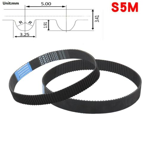 S5M 250~950 Pitch 5mm Close Loop Timing Synchronous Belt Width 10//15//20//25//30mm