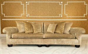 Seater Wes Grand Gold Velvet Sofa