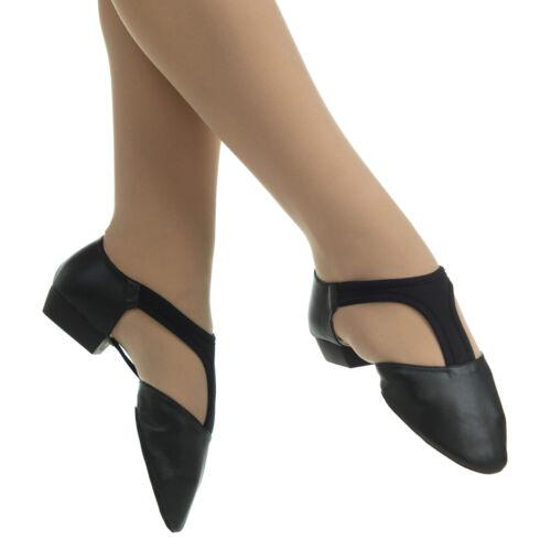 Danzcue Adult Split Sole Super Leather T-Strap Jazz Dance Shoes