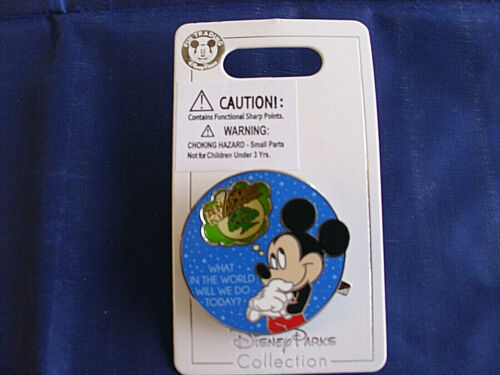 MICKEY Trading Pin Disney WHAT IN THE WORLD WILL WE DO TODAY New on Card