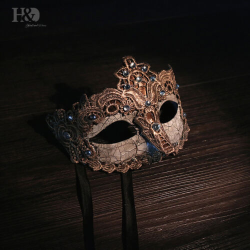 Champagne Masquerade Mask Mardi Gras Note Mask for Women Venetian Party Prom