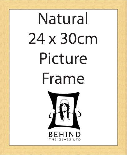 Handmade Natural Brown Wooden Picture Frame 24 x 30cm