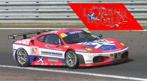Calcas Ferrari 430 GTC Le Mans 2006 1:32 1:43 1:24 1:18 F430 slot decals
