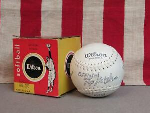 Vintage-Wilson-Offiziell-Top-Notch-Softball-12-034-w-Original-Box-A9100-Baseball