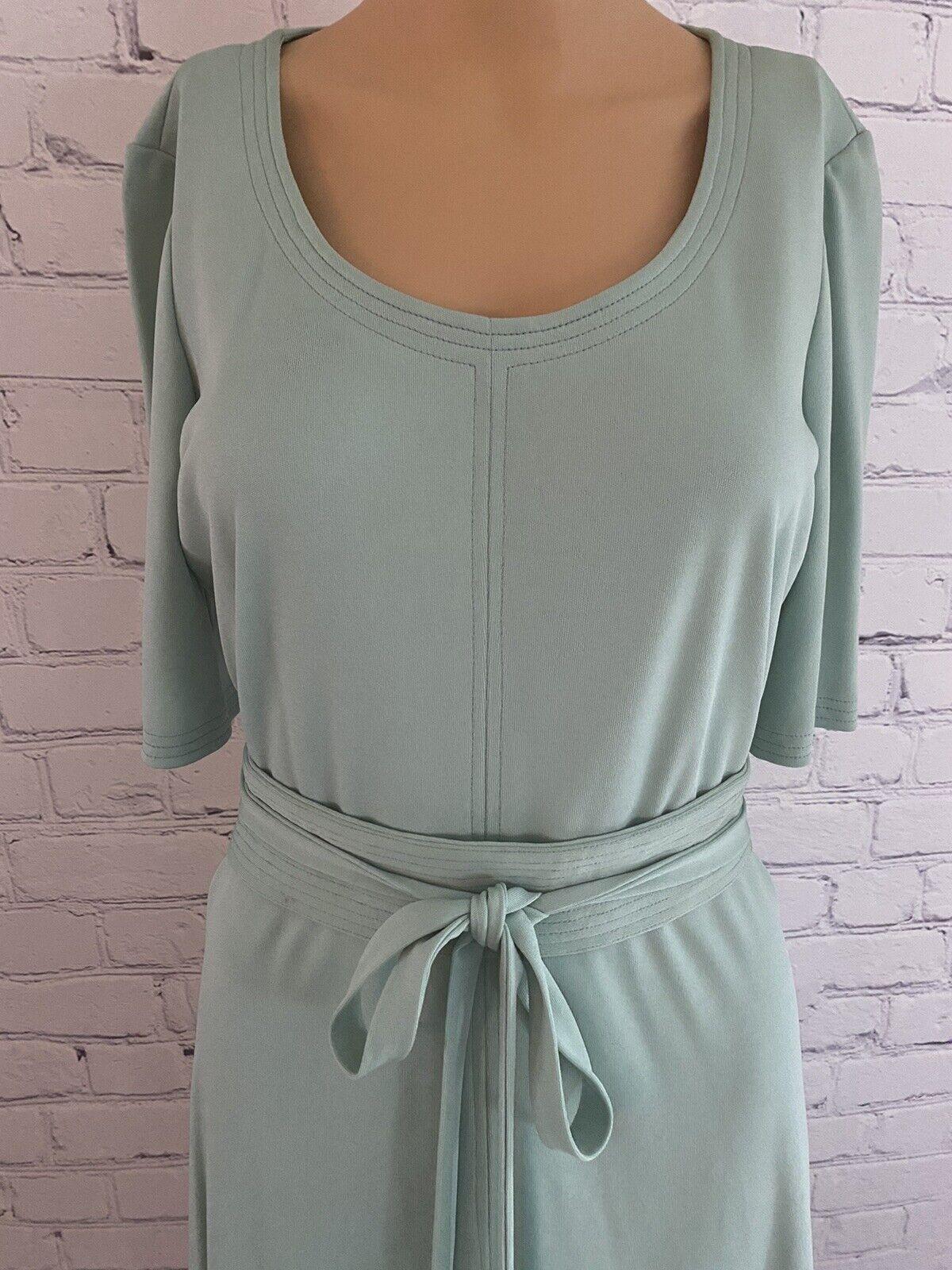 Vintage 70's Mint Green Disco/Secretary Dress - image 2