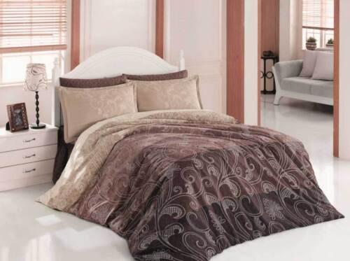 Bettwäsche 200x200 cm Bettgarnitur Bettbezug Baumwolle Kissen 5 tlg EBRULI #VAR