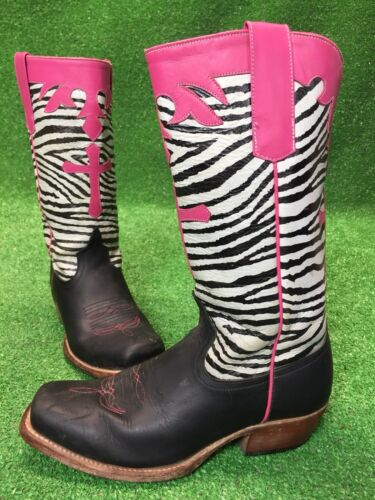Anderson Beans Horsepower Womens 5 Pink Zebra Cowb