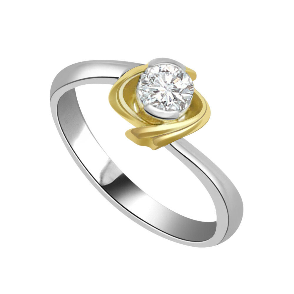 0.19ct H I2 SDJ Cert 14kt Round Solitaire Diamond Engagement Ring