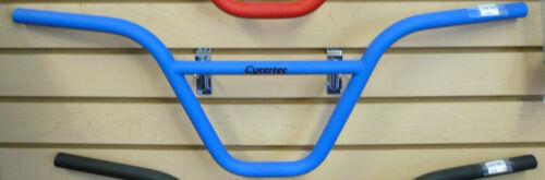 """Bleu Rouge Noir Chrome CYCERTEC 9/"""" Cromoly 22.2 mm 28/"""" largeur BMX guidon Couleur"""