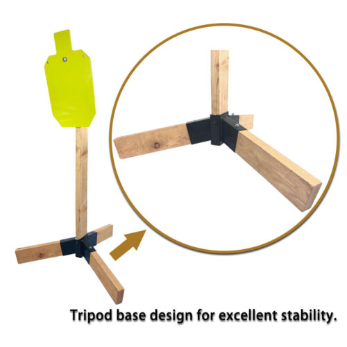 """AR500 Steel Target Stand System-12/""""x20/""""x3//8/"""" Silhouette with 2x4 Stand Mount Kit"""