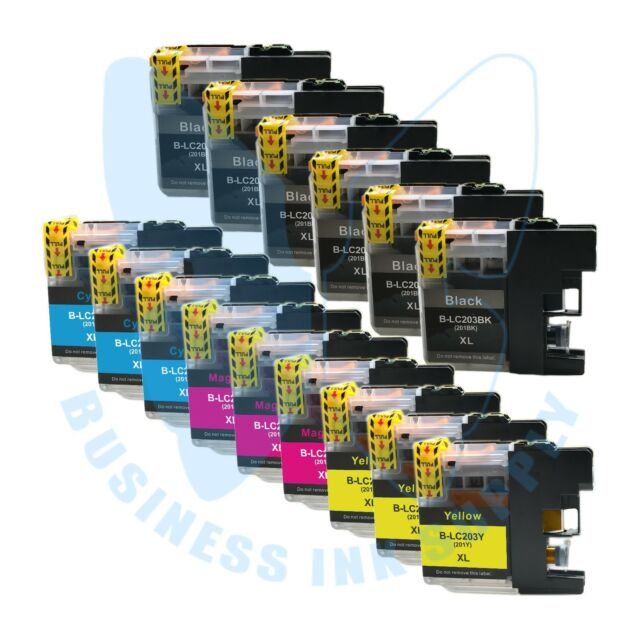 15 PK LC203XL LC201 compatible Ink Cartridges for Brother printers with NEW CHIP