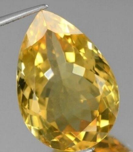 GOLDEN CITRINE 11 x 8 MM PEAR CUT ALL NATURAL