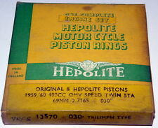 Triumph 500 unit 5TA T100 NOS Hepolite piston rings Kolbenringe 69mm + .030