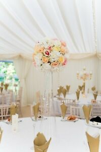Details about flower table centrepiece with vase event HIRE wedding bride  used for aisle first