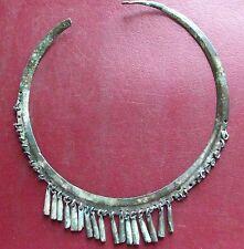 Authentic Ancient Lake Ladoga VIKING Artifact > Rare Bronze Necklace  E26