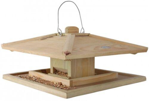 39x39x21cm Esschert Design überdacht Japanisches Vogelfutterhaus Vogelhaus NEU