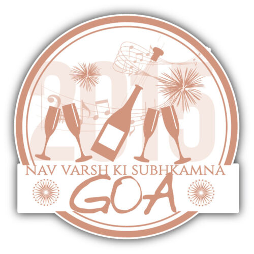 """Goa Travel Stamp Car Bumper Sticker Decal 5/"""" x 5/"""""""
