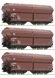 Roco-H0-76079-Klappdeckelwagen-Set-der-DB-034-Neuheit-2019-034-NEU-OVP