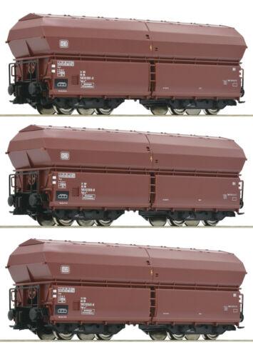 """Roco H0 76079 Klappdeckelwagen-Set der DB /""""Neuheit 2019/"""" NEU OVP"""