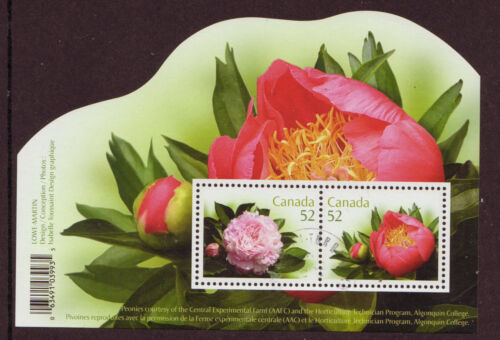 CANADA 2008 PEONIES MINIATURE SHEET FINE USED