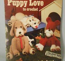 Puppy 1076 Love to Crochet Bulldog Hound Cocker Spaniel Sue Penrod Leisure Arts