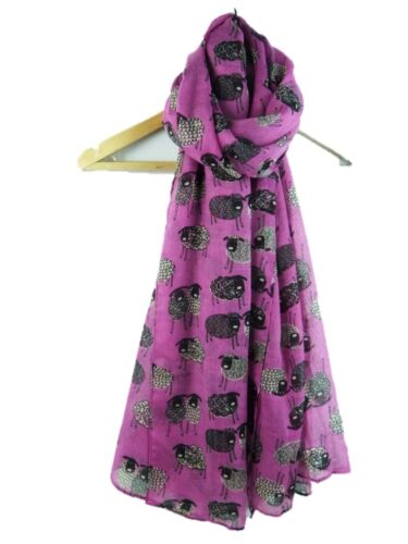 Sheep Print Scarf Sketch Sheeps Ladies Womens  Fashion Wrap 7 Colours Available